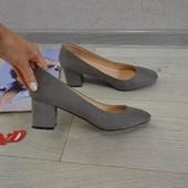 Стильные туфли лодочки на широком каблуке dorothy perkins