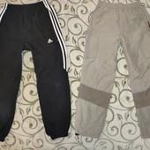 спортивные штаны на подкладке 8-10 лет. две пары в одном лоте