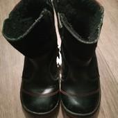 Ботинки из натуральной кожи и замши стелька 15,5см