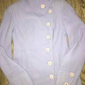Пальто нежно-фиолетового цвета размер 44-46