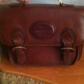 Кожанная сумка-портфель
