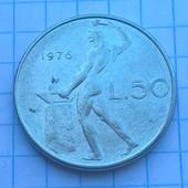 Монета Италии 50 лир 1976