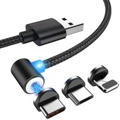 3 вида на выбор! Магнитный зарядный кабель на Micro usb или на iPhone или Type-c.