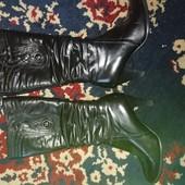 Сапоги кожаные на цегейке