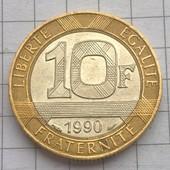Монета Франции 10 франков 1990
