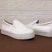 503-1 (36) *8* Женские слипоны White! Распродажа последних размеров -70%
