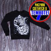 Джемпер Леопард, светится в темноте, размер 134-140