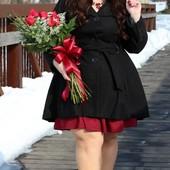 Модное √√ Пог 59-60 см √√ чёрное. кашемировое пальто ,в отличном качестве.