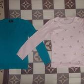 Нарядная блузка 100% котон + свитер 100% кашемир