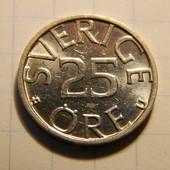 Монета. Швеция. 25 эре 1982 года.