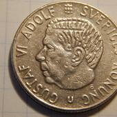 Монета. Швеция. 1 крона 1970 года. Густав VI Адольф. король в 1950—1973 гг.