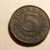 Монета. Австрия. 5 грошей 1968 года!