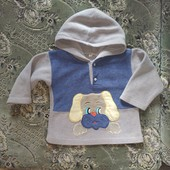 Толстовка для мальчика с капюшоном на 2-3 г смотрите все лоты много одежды на этот возраст