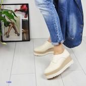 Шикарные качественные кожаные туфли на платформе Richmond (Ричмонд), размер 40,