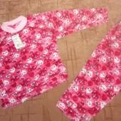 Теплые махровые пижамы. Рост 92-98
