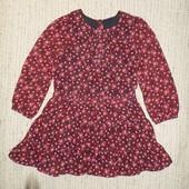 Состояние нового.брэндовое нарядное шифоновое платье с подъюпником,3-4 года,98-104 см.