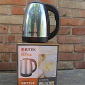 Качественный электро чайник Витек. 2 литра. нержавеющая сталь