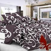 1,5-спальный комплект постельного белья (полисатин с эффектом 3Д)