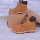 Зимние ботинки,внутри мех- нубук в стиле Timb,Крутая модель.Есть отзывы..
