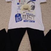Стрейчевые джинсы+ футболка + такой же комплект в подарок