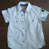 Рубашка с коротким рукавом H&M, р.104 в идеале!