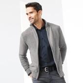 Tchibo(Германия). Мягкий и теплый свитер на молнии, чистый хлопок, наш 56-60р (2XL евро)