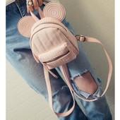 Хит сезона!!! Мини-рюкзак с ушками - стильно, модно, молодежно! Цвет: черный, красный