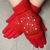 Сенсорные женские перчатки.. 2 в 1