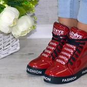 * 172119(36) *59* Женские демисезонные сникерсы Love Fashion! Распродажа последних размеров -70%