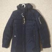 Зимняя мужская куртка, 48р. Темно-синяя
