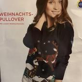 Женский рождественский свитер Esmara размер евро 44-46,на подарок!