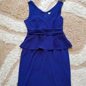 Роскошное вечернее платье Kaliko с баской, цвет фиолетовый, размер 16