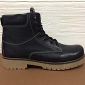 *9170№1000(42) *31* Мужские зимние кожаные ботинки Y-3! Распродажа последних размеров, скидка -70%