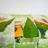Символ года Мышки! Набор красивых Новогодних полотенец из хлопка!