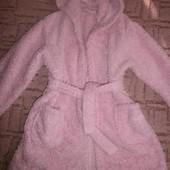 Махровый халат банный розовый 5-6 лет George