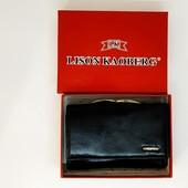 Женский кошелек, натуральная кожа,Lison Kaoberg,Италия,черный.