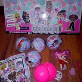 Кукла Lol лол в шаре с волосами, аксессуарами, в лоте 1 шар