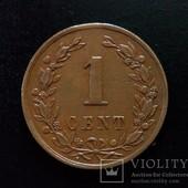 Монета 1 цент 1878 года, Нидерланды.