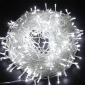 15 метров Новогодняя светодиодная LED гирлянда !!! Однотонная белая.