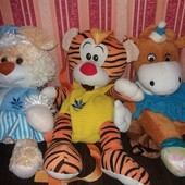 Один на выбор: классные рюкзаки игрушки в виде тигра, зайца и коровки