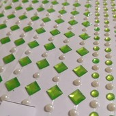 Наклейки декоративные стразы кристаллы-жемчужинки. В лоте фото 1.