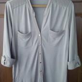 Трикотажная блуза рубашка