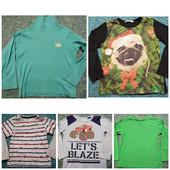 Пакет вещей для мальчика 4-5 лет 4 реглана и тонкий гольф