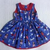 Нарядное платье Love Next в веселый принт -собачки. 12-18м.