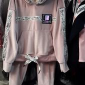 Качественный велюровый костюм р. 146