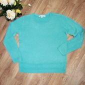 Очень красивый бирюзовый свитерок, р.50-52. Состояние отличное. Победителю блица - подарок)))