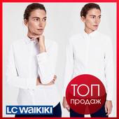 Женская блузка белая lc waikiki / лс вайкики на пуговицах с кристаллами