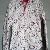 Рубашка. Рубашка с цветочным принтом . цветы . яркая рубашка