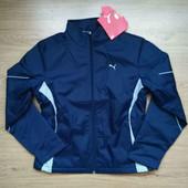 Фирменная женская куртка Puma на флисе и тонком синтепоне. размер xl (48-50).