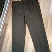 Темно зелені класичні штани, стан нових, 52 розмір